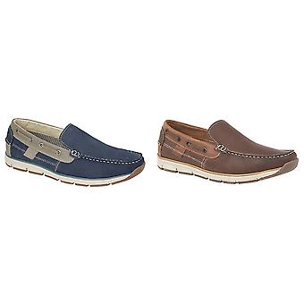 Roamers Superlight Mens Leather Slip On Tab Tab Moccasin Chaussures de loisirs