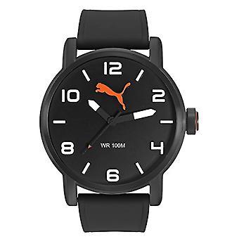 Cougar Time Alternatives Round wrist watch, analog, Silicon band, black (Gun Black)