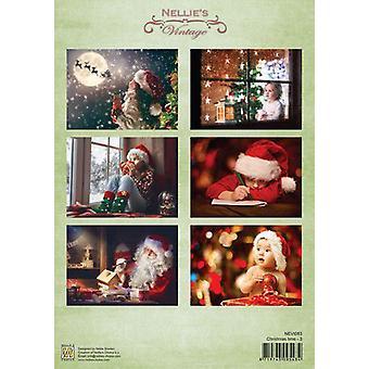 נלי ' s בחירה מגזרת נייר מדפים חג המולד time-3 A4-NEVI083