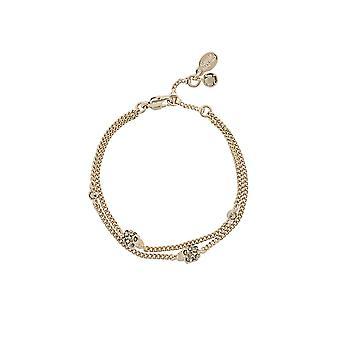 Alexander Mcqueen 553655j160k7285 Frauen's Gold Messing Armband