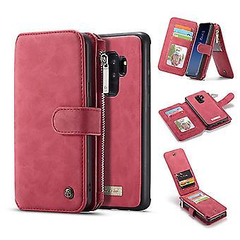 Kotelo Samsung Galaxy S9 Plus punainen monitoimisalkku