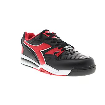 Diadora Rebound Ace Mens Black Leather Low Top Sneakers Chaussures