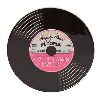 CGB Giftware Girls Just Wanna Have Rum Record Coaster