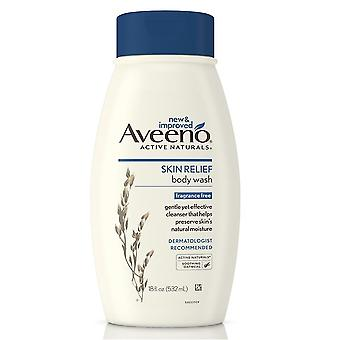 Aveeno skin relief body wash, frangrance free, 18 oz