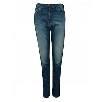 Armani Exchange Boyfriend Roll Up Jeans