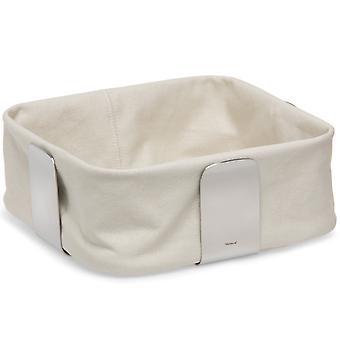 Blomus DESA, stainless steel matt, breadbasket cotton liner sand
