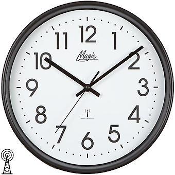 Magic 4491/7 wall clock radio radio controlled wall clock analog black round plain