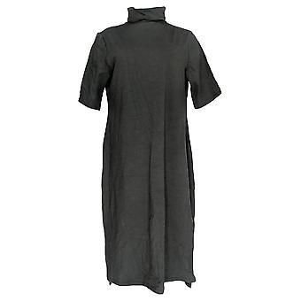 H door Halston Dress Essentials Turtleneck Midi Black A311545