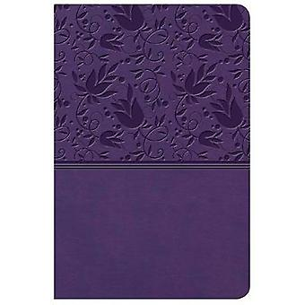 KJV Large Print Compact Reference Bible - Purple LeatherTouch av Holm