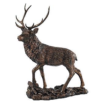 Border Fine Arts Studio Bronze Hert Groot Beeldje