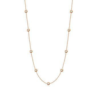 Halskette lange Konstellation Diamanten und 18K Gold - Rose Gold