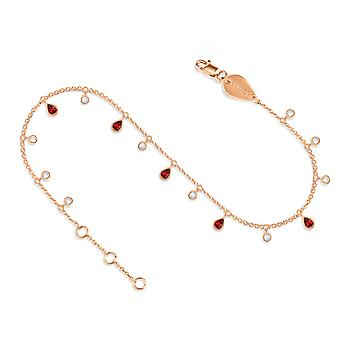 Sclipici de gleznă 18K Aur și Diamante - Rose Gold, Ruby