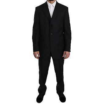 Z ZEGNA Blue Striped Two Piece 3 Button Suit -- KOS1313904