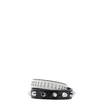 Mcm Mez9amm15 Women's Black Leather Bracelet