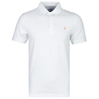 Farah Blanes Basic Berlin Grey Marl Pique Polo Shirt