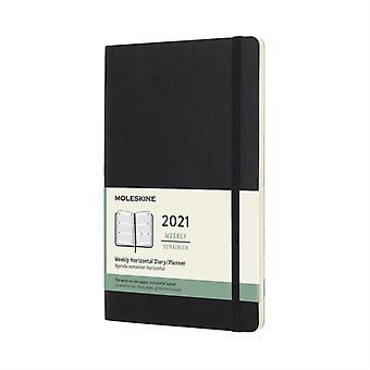 2021 12M Wkly Horizontal Lrg Black Soft