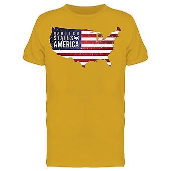 États-Unis d'Amérique. Carte Tee Men-apos;s -Image par Shutterstock