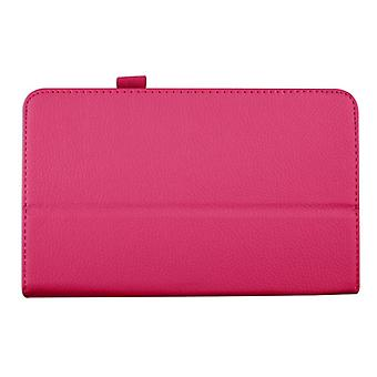 "Magnetic PU Leather Case Cover for Samsung Galaxy Tab 4 8"" T330[Hot Pink]"