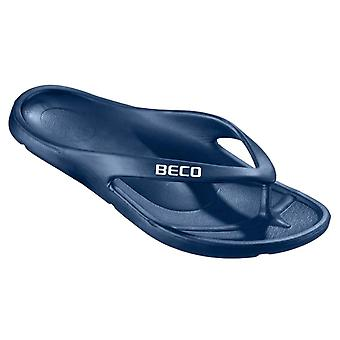 BECO V-Strap Unisex Pool Slippers - Navy-44 (EUR)
