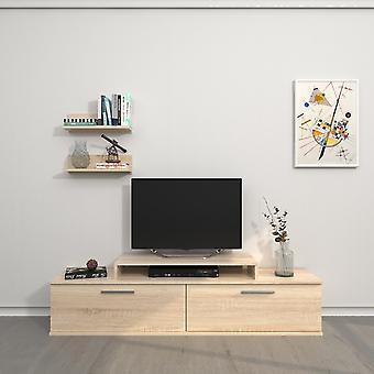 Mobile Porta TV Orione Color Sonoma in Truciolare Melaminico 150x30x39,5 cm, 40x17x10 cm