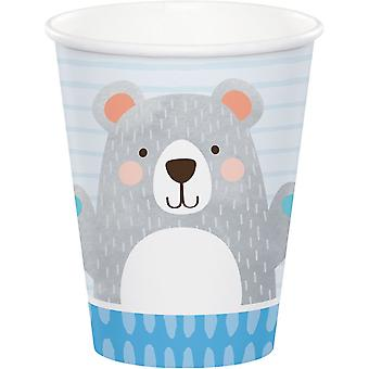 Birthday Teddy Bear Paper Party Cups x 8