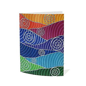 Connecting With You Aboriginal Greeting Card Blank Inside A6