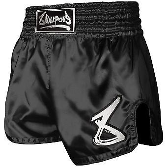 8 Vapenslag Muay Thai Shorts Svart/Vit