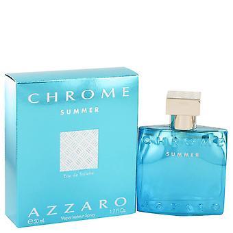 Chrome Summer Eau De Toilette Spray Par Azzaro 1.7 oz Eau De Toilette Spray