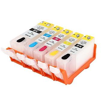 RudyTwos Replacement for Canon CLI-521 Set Ink Cartridge Black Cyan Yellow & Magenta + 1x Extra Black (5 Pack) Compatible with Pixma MP540, MP540x, MP550, MP560, MP620, MP620b, MP630, MP640, MP980, MP