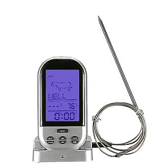 Digital Wireless Oven Thermometer - Meat Bbq Grilling Food Cooking Tools With Timer Alarm