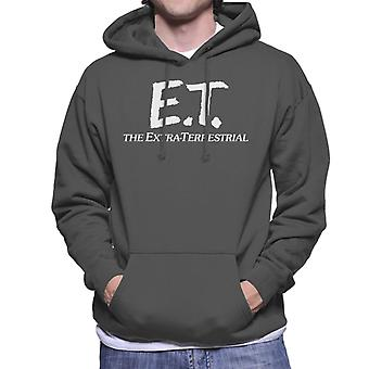 E.T. Retro Text Logo Men's Camisola Encapuzada