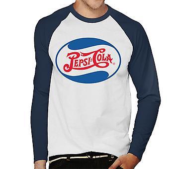 Pepsi Cola 1943 Wave logo mannen honkbal lange mouwen T-shirt