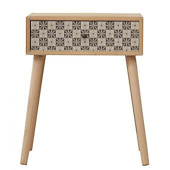 Rebecca Furniture Comfort 1 Scandinavian Drawer Light Grey Wood 57x45x30