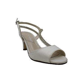 Caparros Womens delicia Fabric Open Toe Special Occasion Ankle Strap Sandals