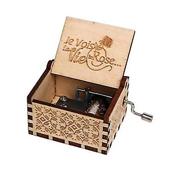 La Vie En Rose-hand-cranked Wooden Music Box