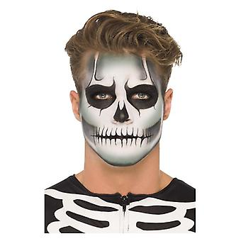 Brilho no esqueleto escuro make up kit halloween face paints