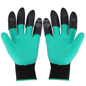 Durable And Waterproof  Rubber Gloves With Claws For Garden, Digging And
