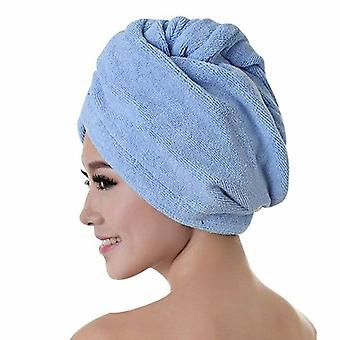 Rapid Drying Hair Towel - Thick Absorbent Shower Cap For Fast Dry