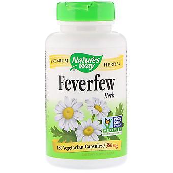 Nature's Way, Feverfew Herb, 380 mg, 180 Vegetarian Capsules