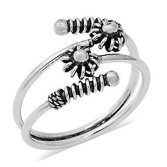 Flower Bypass Ring for kvinder Sterling Sølv TJC