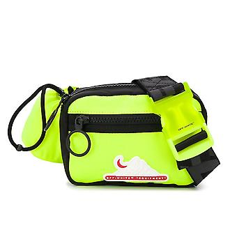 Off-white Ezcr002014 Men's Yellow Polyester Pouch