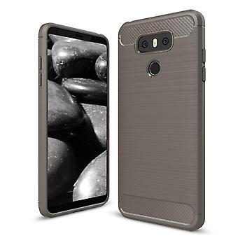 Shell per LG G6 Carbon Fiber Armor Case Protection TPU Grey