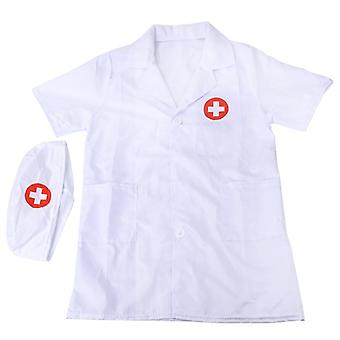 Children's Doctor, Nurse Cosplay Costume Halloween Party Coat Robe Short Sleeve