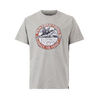 WF Tours Grafisk T-Shirt Grå Marl