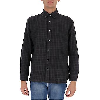 Tom Ford 8ft17294utang Men's Grey Cotton Shirt