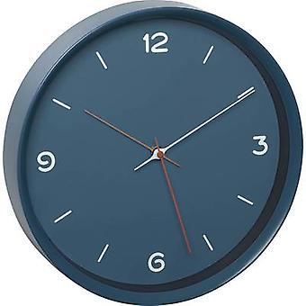 TFA Dostmann 60.3056.06 Quartz Wall clock 309 mm x 50 mm Petrol blue