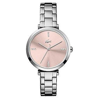 Lacoste | Women's | Genève | Roestvrijstalen armband | Roze wijzerplaat | 2001145 Horloge