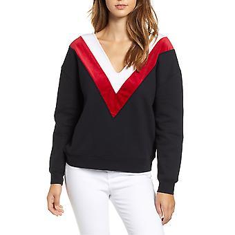 Kendall + Kylie | V-Neck Chevron Sweatshirt
