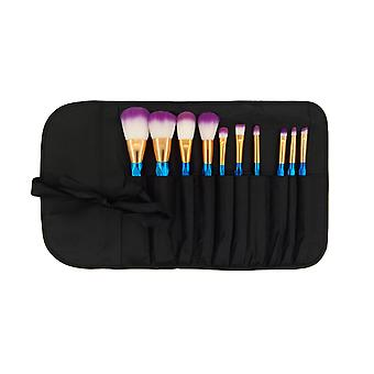 10 Pcs Set Of Cosmetic Brush For Professional And Beginners