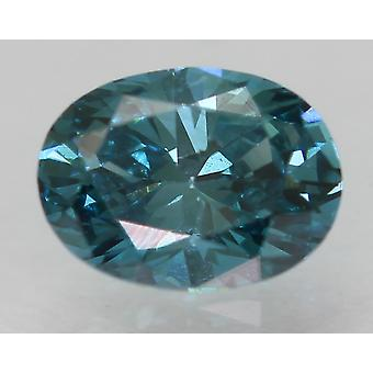 Cert 0.33 Karat Vivid Blau VVS1 Oval Enhanced Natürliche lose Diamant 5.08x3.78mm